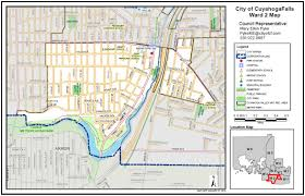 Ohio City Map Ward Two City Of Cuyahoga Falls