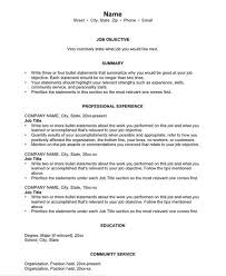 chronological resume templates chronological resume template word