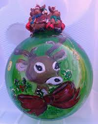 one of a kind hand painted christmas ornaments inner city slickers