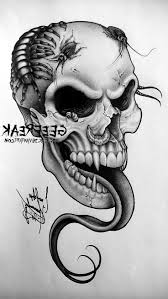 skull and guns tattoo designs cool tattoos bonbaden