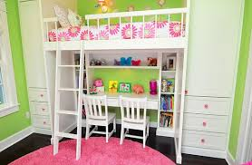 Pink Desk For Girls Loft Beds With Desks Underneath 30 Design Ideas With Enigmatic Touch