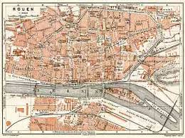 map of rouen historical map prints of rouen in for sale and