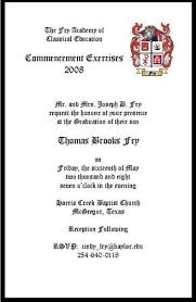 commencement invitation fry family pictures