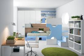 White Wooden Bunk Bed Charming Blue White Wooden Bunk Beds Which Has Storage Drawers