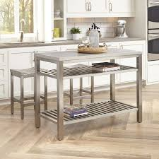 kitchen island set everly quinn sione 3 kitchen island set reviews wayfair