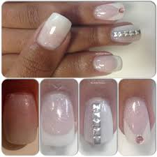 young nails cover blush acrylic frenchmanicure nail art