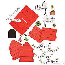snoopy christmas dog house peanuts 3d snoopy s christmas dog house craft