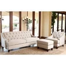 Beige Tufted Sofa by Baxton Studio Bostwick Beige Linen Classic Victorian Sofa Set By