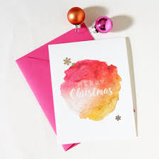 watercolor christmas cards merry christmas holiday cards