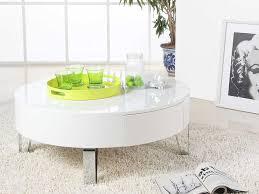 design couchtisch weiãÿ esstisch moderne couchtisch weiss rund mit schublade und tischfuß