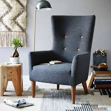 Linen Wingback Chair Design Ideas Victor Chair Linen Weave Chocolate Legs Wingback