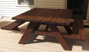 8 Ft Picnic Table Plans Free by Handymanwire 4 Ft Sq Picnic Table Plans