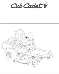 cub cadet lawn mower 23hp z force 50 user guide manualsonline com