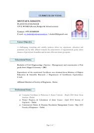 career objective in resume for civil engineer mustafa shahin planning updated cv