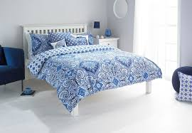 ionia blue 180 tc bedding linen bed set range indigo