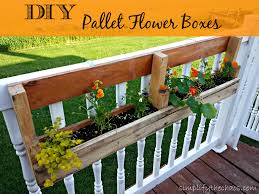 diy pallet flower boxes simplify the chaos