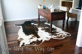 Faux Cowhide Chair On Using A Real Or Faux Cowhide Rug In A Home Office