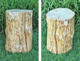 How To Make A Wood Stump End Table by Diy Natural Tree Stump Side Table Justinecelina