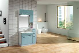 Blue Bathroom Vanity Cabinet Decoration Ideas Engaging Decorating Ideas With Mirrored