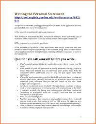 Resume Personal Statement Example by 8 What To Put In A Personal Statement Bank Statement
