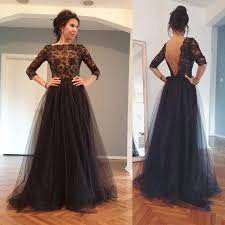 wedding party dresses 2018 backless evening gowns illusion sheer sleeves bateau