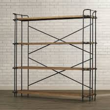 Etagere Wood Industrial Bookcases Birch Lane