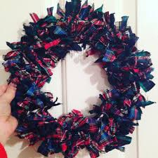 how to make a christmas rag wreath for under 5 wreaths xmas