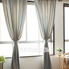 light blue striped curtains casual cotton organic beige and ba blue striped curtains 2018 summer