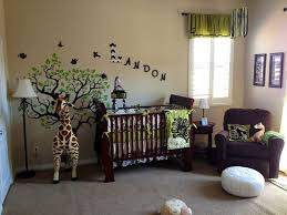 Decorate A Nursery Jungle Safari For Baby Nursery Decor With L Stand And Sofa