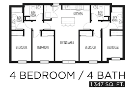 4 bedroom open floor plans simple 4 bedroom floor plans 4 bedroom 1 floor house plans simple