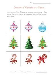 christmas worksheet recognize different things pinned by