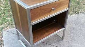 Stainless Steel Nightstand Walnut And Stainless Steel Nightstand Album On Imgur