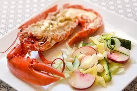 homard cuisine homard et salade aux pêches cuisine à l ouest