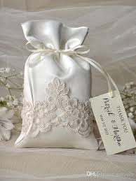 wedding gift bag exquisite white satin lace floral applique wedding gift bag lace