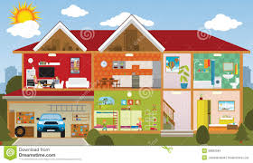 rooms of house clipart collection
