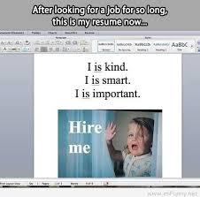 written resume