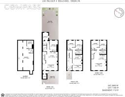 Brooklyn Brownstone Floor Plans by 20th Century Prospect Lefferts Gardens Home With Pool Asks 1 8m