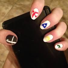 just some smash bros 4 nail art based off my favorite characters