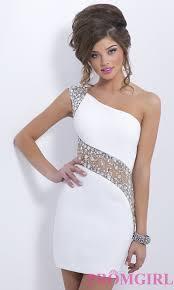 short one shoulder beaded cocktail dresses promgirl