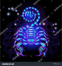 Colors Of The Zodiac by Neon Signs Zodiac Scorpio Stock Vector 189441398 Shutterstock