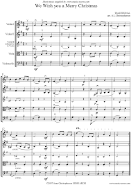 we wish you a merry string quartet sheet by