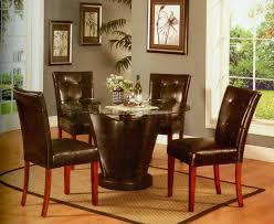 round glass top u0026 espresso base modern dining table w options