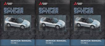 2001 mitsubishi eclipse spyder body repair shop manual original