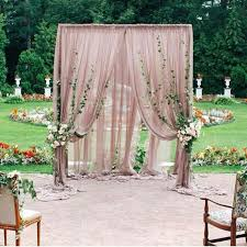 Curtains For Wedding Backdrop Best 25 Ceremony Backdrop Ideas On Pinterest Backyard Wedding