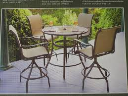 hexagon patio table and chairs awesome patio set design lowes brown hexagon contemporary wooden
