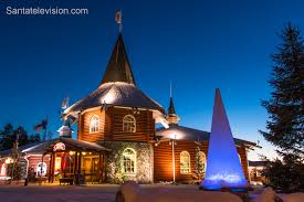 photo santa claus holiday village christmas house in rovaniemi in