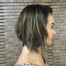 graduated layered blunt cut hairstyle 60 messy bob hairstyles for your trendy casual looks