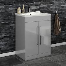 milano stone gloss white wall mounted vanity unit bathroom vanities vanity units uk bathroom sink cabinets within high