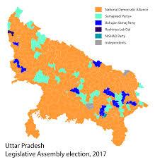 2016 Election Prediction Map by Uttar Pradesh Legislative Assembly Election 2017 Wikipedia