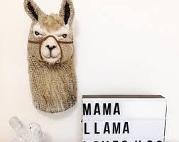 llama decor llama gifts faux taxidermy animal nursery faux